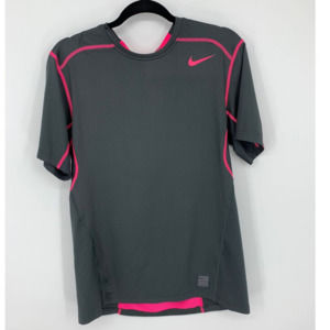 Nike pro dri-fit fitted L gray pink shirt
